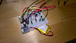 Breadboard ATTiny virtual wall